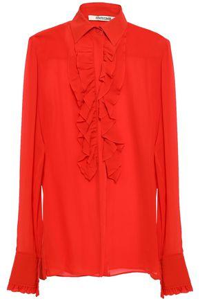 ROBERTO CAVALLI Ruffled silk-georgette shirt