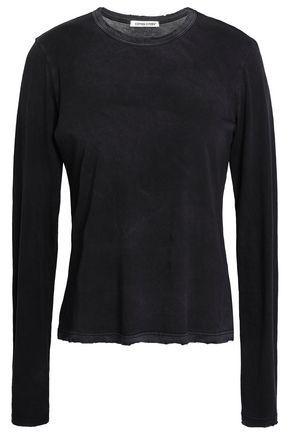 COTTON CITIZEN Distressed Supima cotton-jersey top