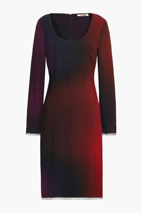 ROBERTO CAVALLI Crystal-embellished dégradé crepe dress
