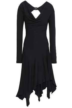 ROBERTO CAVALLI Asymmetric cutout stretch-jersey dress