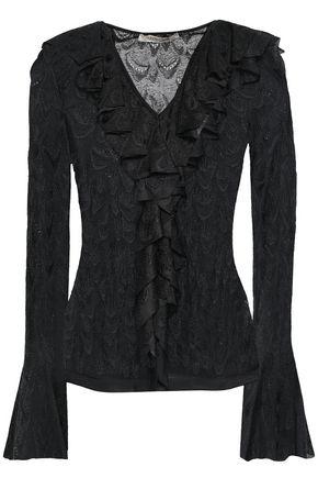 ROBERTO CAVALLI Ruffled lace blouse