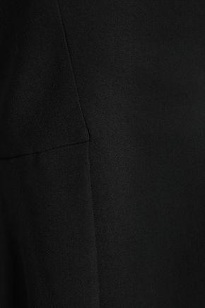 ROBERTO CAVALLI Strapless crepe peplum top