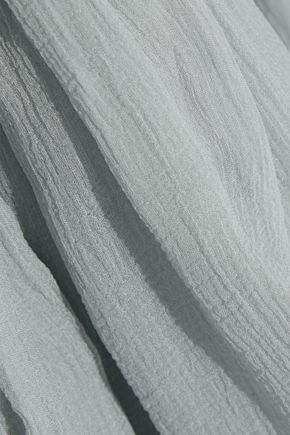CHLOÉ Ruffled silk-georgette dress