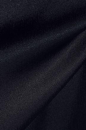 FRAME Frayed chiffon-trimmed satin camisole