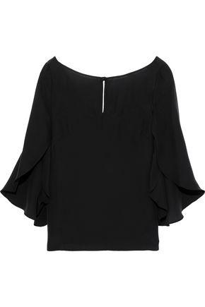 MILLY Papillon crepe de chine blouse