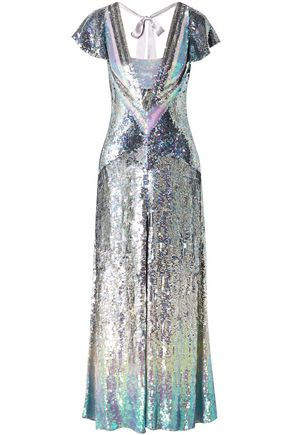 TEMPERLEY LONDON Ruth cutout sequined tulle gown