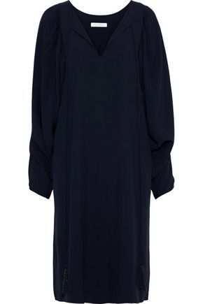 CHLOÉ Gathered crepe dress