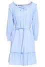 BURBERRY Ruffle-trimmed pintucked cotton-poplin mini dress