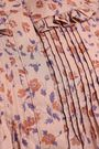 BURBERRY Pintucked floral-print cotton-poplin shirt
