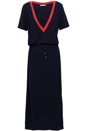 NINETY PERCENT Striped stretch-jersey midi dress