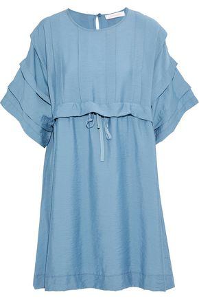 SEE BY CHLOÉ Pleated crinkled-faille mini dress