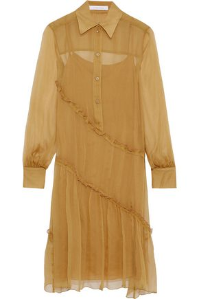 SEE BY CHLOÉ Ruffled silk-georgette shirt dress