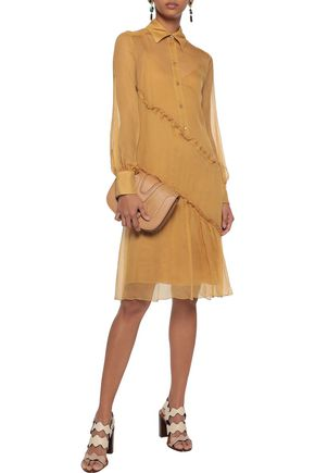SEE BY CHLOÉ Ruffled silk-georgette shirt dress