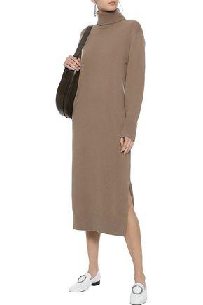 Joseph Woman Sally Wool-blend Turtleneck Midi Dress Mushroom