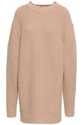 NINETY PERCENT Ribbed merino wool and cashmere-blend mini dress
