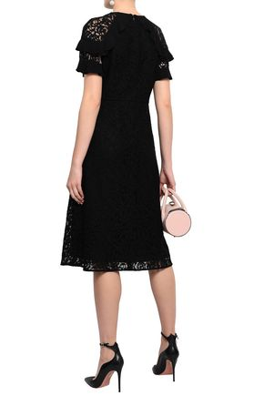 BURBERRY Ruffle-trimmed lace dress