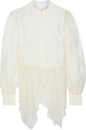 SEE BY CHLOÉ Gathered organza blouse