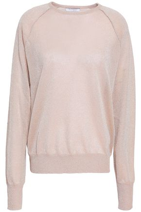 NINETY PERCENT Metallic knitted sweater