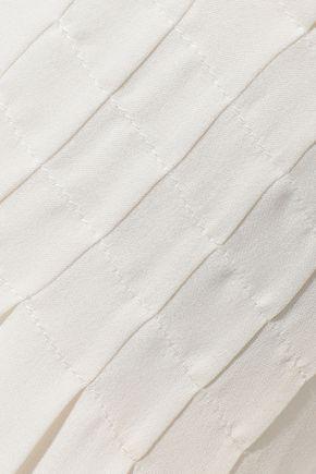 FRAME Smocked silk crepe de chine top