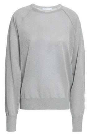NINETY PERCENT Metallic knitted sweater