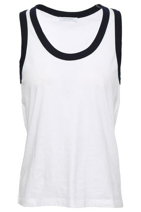 NINETY PERCENT Two-tone cotton-jersey tank