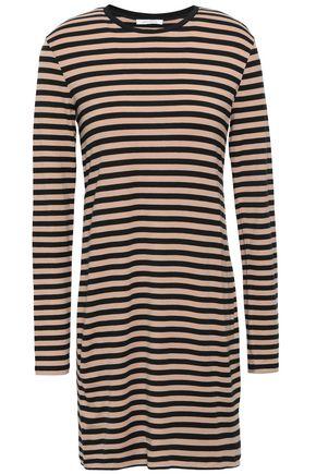 NINETY PERCENT Striped stretch-Tencel mini dress