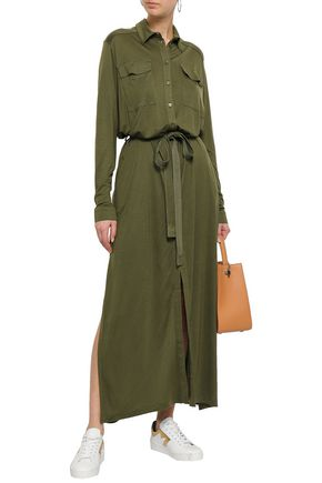 NINETY PERCENT Tencel-jersey maxi shirt dress