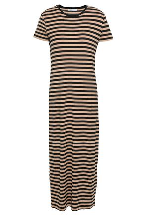 NINETY PERCENT Striped stretch-Tencel midi dress