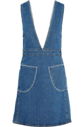 SEE BY CHLOÉ Patchwork denim mini dress