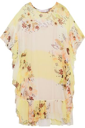 SEE BY CHLOÉ Ruffled floral-print georgette dress