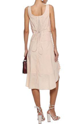 CHLOÉ Tie-back button-detailed cotton-voile dress
