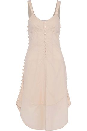 CHLOÉ Tie-back button-detailed cotton-voile dress