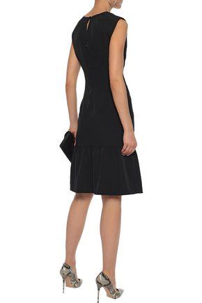 MILLY Fluted silk-blend dress