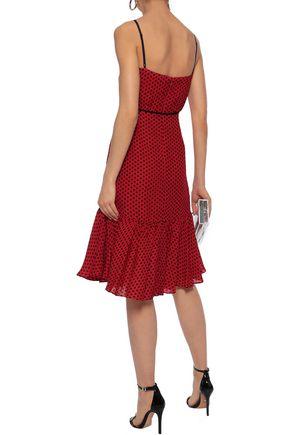 MILLY Tiffany polka-dot silk crepe de chine dress