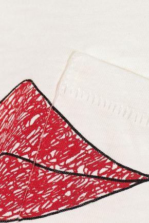 RAG & BONE Lips printed slub Pima cotton T-shirt