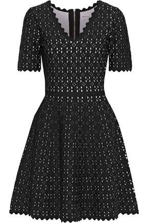 MILLY Laser-cut stretch-knit mini dress