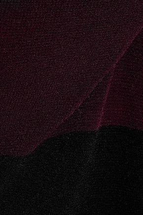 MILLY Bateau two-tone stretch-knit dress