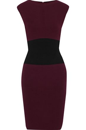 MILLY Bateau two-tone stretch-knit dress
