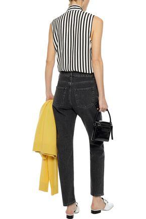 FRAME Striped silk shirt