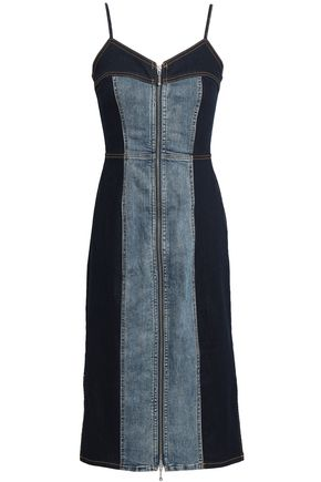 CURRENT/ELLIOTT Two-tone denim dress