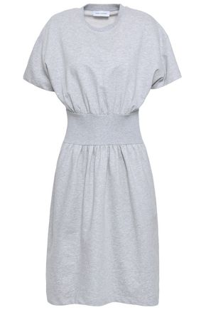 NINETY PERCENT Gathered French cotton-terry dress