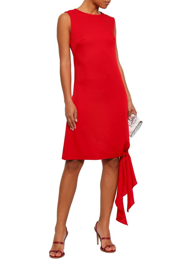 0563502e Chiara knotted stretch-silk mini dress | MILLY | Sale up to 70% off ...