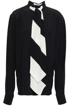 GIVENCHY Draped silk crepe de chine blouse