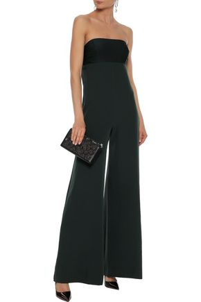 MILLY Brooke strapless cady jumpsuit