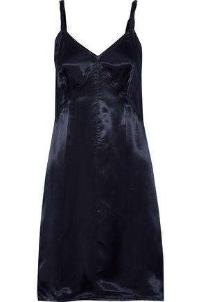 HELMUT LANG Twisted satin-twill mini slip dress