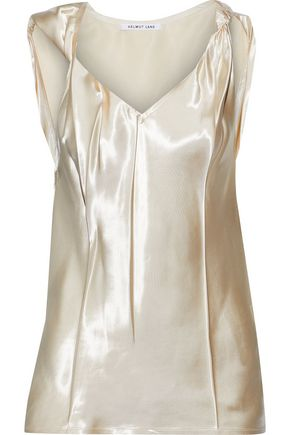 HELMUT LANG Twisted knotted satin-twill camisole