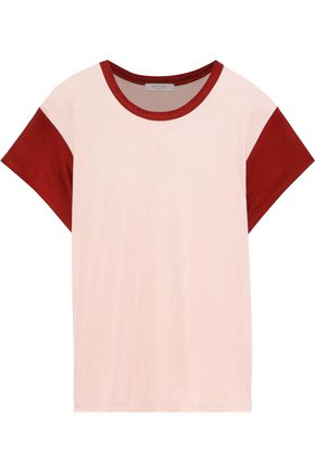 RAG & BONE Two-tone stretch-jersey T-shirt