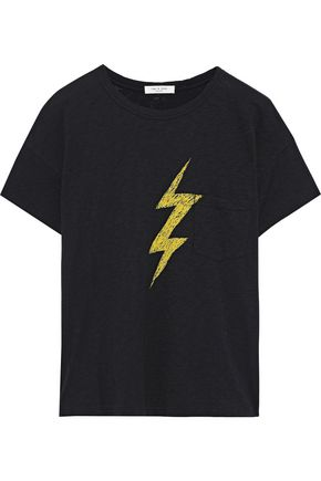 RAG & BONE Lightning printed Pima cotton-jersey T-shirt
