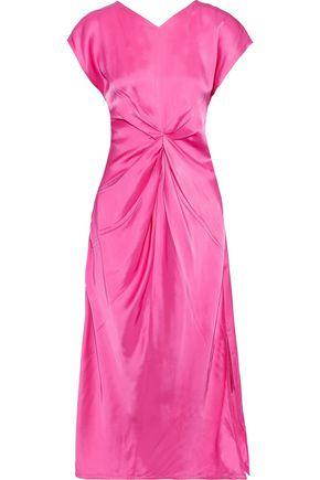 HELMUT LANG Twist-front satin midi dress