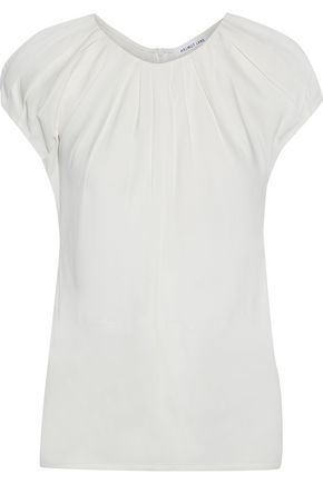 HELMUT LANG Pleated woven blouse